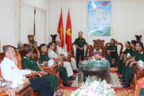 Bộ CHQS tỉnh gặp mặt đoàn cựu chiến binh Trung đoàn 16
