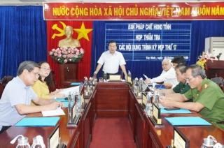 Ban Pháp chế HĐND tỉnh thẩm tra một số nội dung trình kỳ họp 17