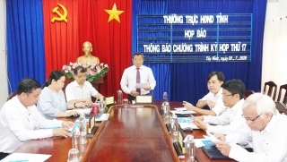 Thường trực HĐND tỉnh tổ chức họp báo nội dung chương trình kỳ họp thứ 17