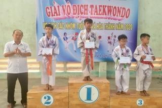 Hoà Thành: Bế mạc giải Taekwondo các nhóm tuổi năm 2020