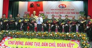 Đại tá Hoàng Xuân Cường và Đại tá Ngô Thành Đồng tái đắc cử chức Phó Bí thư Đảng ủy Quân sự tỉnh