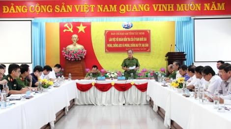 Đoàn kiểm tra Trung ương về phòng, chống ma tuý, mại dâm làm việc tại Tây Ninh