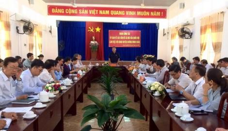 Đoàn công tác Uỷ ban về các vấn đề xã hội của Quốc hội làm việc tại huyện Dương Minh Châu