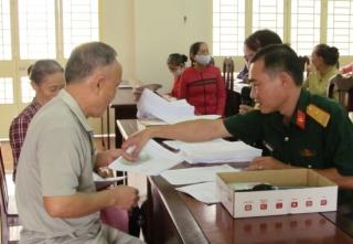 TP.Tây Ninh,huyện Châu Thành: Chi trả chế độ trợ cấp một lần cho các đối tượng chính sách