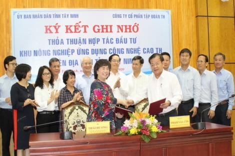 UBND tỉnh Tây Ninh và Tập đoàn TH ký kết bản ghi nhớ thỏa thuận hợp tác