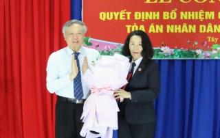 Bà Nguyễn Thị Tuyết Vân được bổ nhiệm làm Chánh án TAND tỉnh