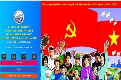 """16 cá nhân đạt giải Cuộc thi tìm hiểu """"Đảng bộ tỉnh Tây Ninh qua mười kỳ Đại hội"""" tháng 7.2020"""