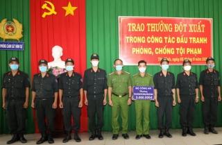 Bộ Công an: Trao thưởng cho các đơn vị thuộc Công an Tây Ninh có thành tích phòng chống tội phạm