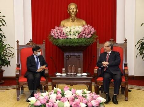 Thường trực Ban Bí thư tiếp Đại sứ Ấn Độ
