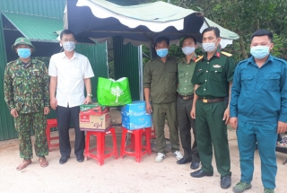 Châu Thành: Thăm các chốt chặn phòng, chống dịch Covid-19