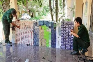 Biên phòng Tây Ninh bắt giữ 6.140 gói thuốc lá nhập lậu
