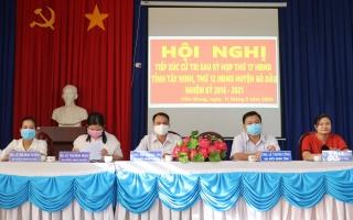 Đại biểu HĐND tiếp xúc cử tri xã Cẩm Giang.