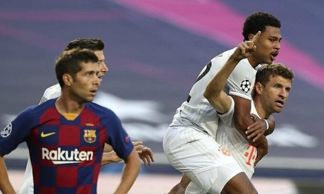 Bayern thắng Barca 8-2 ở Champions League