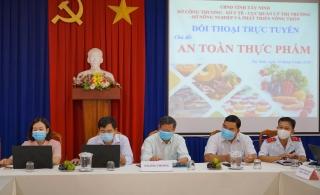 Tây Ninh: Hội nghị trực tuyến về an toàn thực phẩm