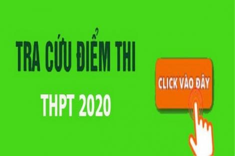 Tra cứu điểm thi tốt nghiệp THPT năm 2020