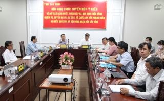 Góp ý về dự thảo Nghị quyết thành lập Văn phòng Đoàn ĐBQH và HĐND cấp tỉnh