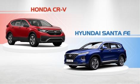 Gần một tỷ chọn CR-V hay Santa Fe?