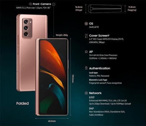 Samsung trình làng Galaxy Z Fold2