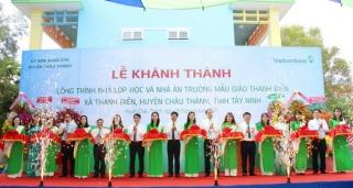 Khánh thành công trình lớp học và nhà ăn Trường Mẫu giáo Thanh Điền