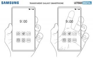 Samsung có thể ra smartphone trong suốt