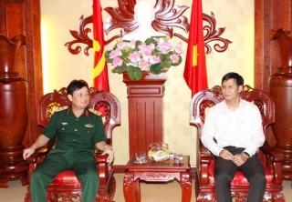 Bí thư Tỉnh uỷ tiếp Đoàn công tác Quân khu 7 đến thăm, làm việc tại Tây Ninh