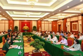Bộ Chính trị đã làm việc với 43 đảng bộ trực thuộc Trung ương về chuẩn bị Đại hội