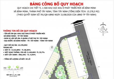 Công bố Đồ án quy hoạch tỷ lệ 1/500 khu vực khu ở phát triển mới xã Bình Minh