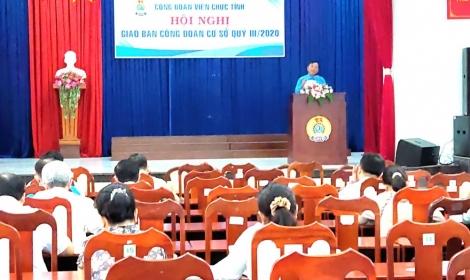 Công đoàn Viên chức tỉnh: Giao ban công đoàn cơ sở quý III năm 2020