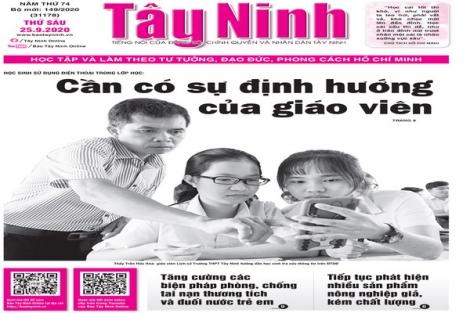 Điểm báo in Tây Ninh ngày 25.9.2020