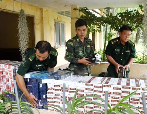 Bắt giữ trên 5.000 gói thuốc lá ngoại tại khu vực Cửa khẩu Mộc Bài
