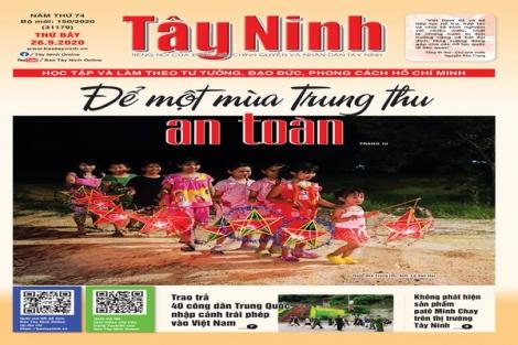 Điểm báo in Tây Ninh ngày 26.9.2020