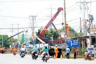 Điện lực Tây Ninh: Nỗ lực bàn giao mặt bằng để thi công mở rộng đường ĐT782-784