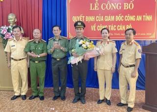 Công bố quyết định của Giám đốc Công an tỉnh về công tác cán bộ tại Phòng Cảnh sát giao thông