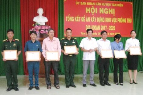 Tân Biên tổng kết đề án xây dựng khu vực phòng thủ huyện giai đoạn 2017-2020
