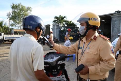 CSGT đã kiểm tra hơn 2.300 phương tiện trên địa bàn Dương Minh Châu