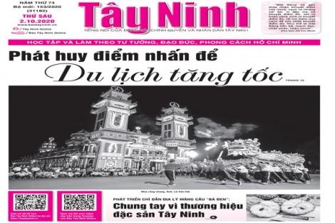 Điểm báo in Tây Ninh ngày 02.10.2020