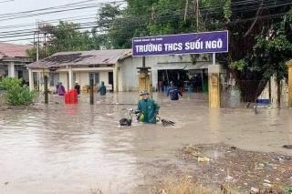 Trường THCS Suối Ngô (Tân Châu): Ngập nặng sau mưa
