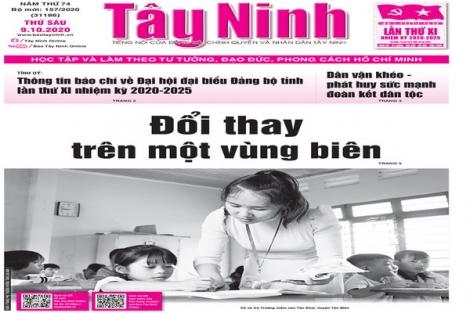Điểm báo in Tây Ninh ngày 09.10.2020