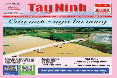 Điểm báo in Tây Ninh ngày 10.10.2020