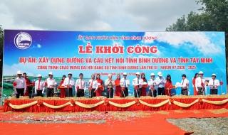 Khởi công xây dựng đường và cầu kết nối Bình Dương - Tây Ninh
