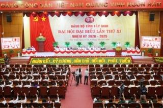 Trực tiếp Đại hội đại biểu Đảng bộ tỉnh Tây Ninh lần thứ XI, nhiệm kỳ 2020-2025