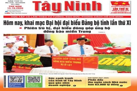 Điểm báo in Tây Ninh ngày 15.10.2020