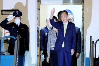 Thủ tướng Nhật Bản Suga Yoshihide đã tới Hà Nội, bắt đầu chuyến thăm chính thức Việt Nam