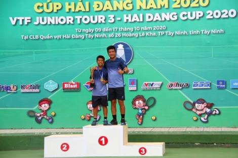 Giải quần vợt VTF Junior Tour 3–Hải Đăng Cup 2020: Chủ nhà có thêm chức vô địch thứ 2