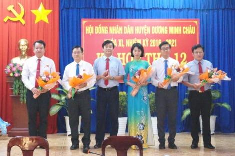 HĐND huyện Dương Minh Châu bầu bổ sung nhiều chức vụ quan trọng