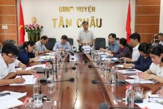 Thường trực HĐND tỉnh làm việc với huyện Tân Châu về tình hình thực hiện công tác quản lý nhà nước về đất đai