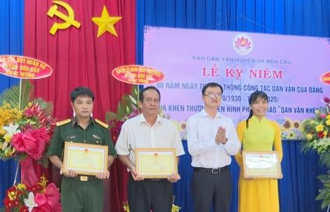 Bến Cầu họp mặt kỷ niệm 90 năm Ngày truyền thống công tác Dân vận của Đảng