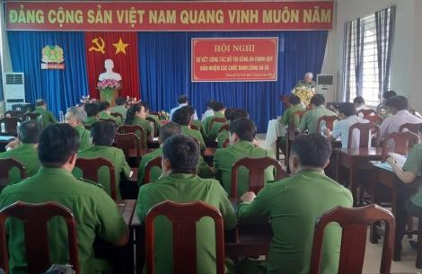 TP.Tây Ninh: Sơ kết công tác bố trí công an chính quy đảm nhiệm các chức danh công an xã