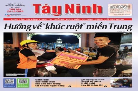 Điểm báo in Tây Ninh ngày 24.10.2020