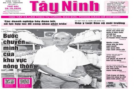 Điểm báo in Tây Ninh ngày 26.10.2020
